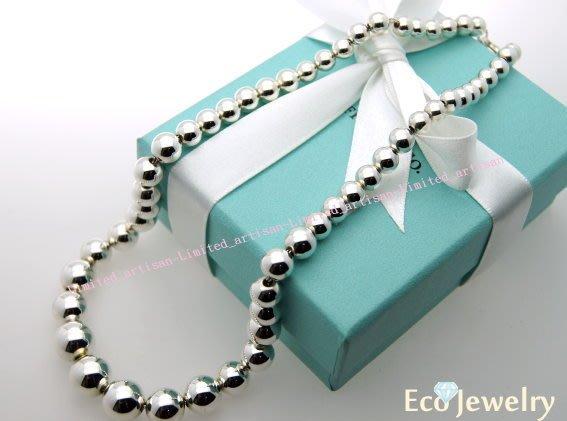 《Eco-jewelry》【Tiffany&Co】 漸層銀珠項鍊 純銀925項鍊 ~專櫃真品 已送洗