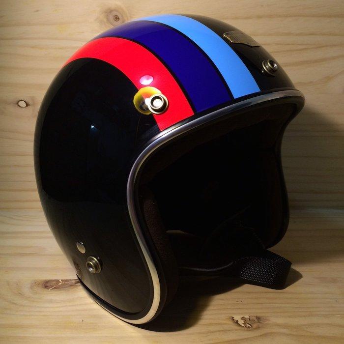(I LOVE樂多)Air runner彩繪安全帽(黑)BMW配色 喜歡BELL BUCO SHM可參考R90T M3