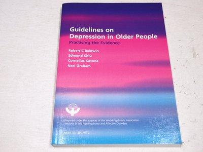 【考試院二手書】《Guidelines on Depression in Older People》八成新(B11D67