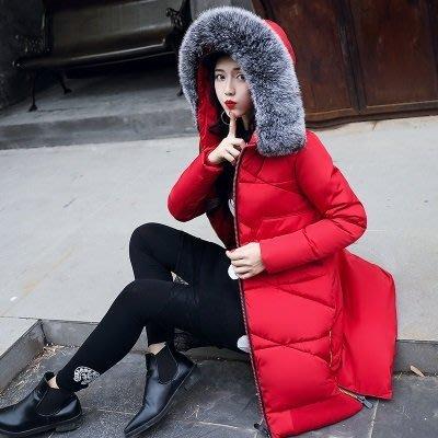 羽絨外套 連帽夾克-中長款毛領防風修身女外套6色73pa21[獨家進口][米蘭精品]