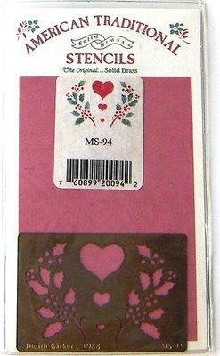 陽光一品DIY卡片印章專賣店~~ 銅片特賣-聖誕愛心串--##MS-94##-~~美國製絕版品