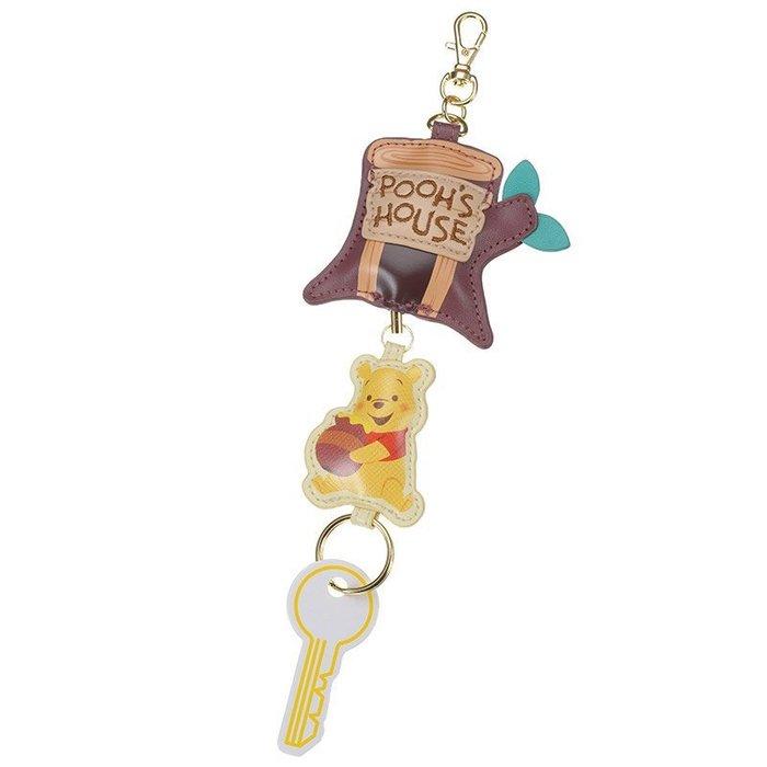 代購現貨 日本迪士尼 小熊維尼樹屋鑰匙鏈/鑰匙鏈捲軸