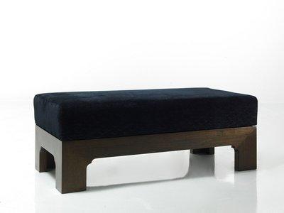 【一(藝)窩】新式 腳凳~玫瑰紫檀/軟包~老料新作 宋式家具