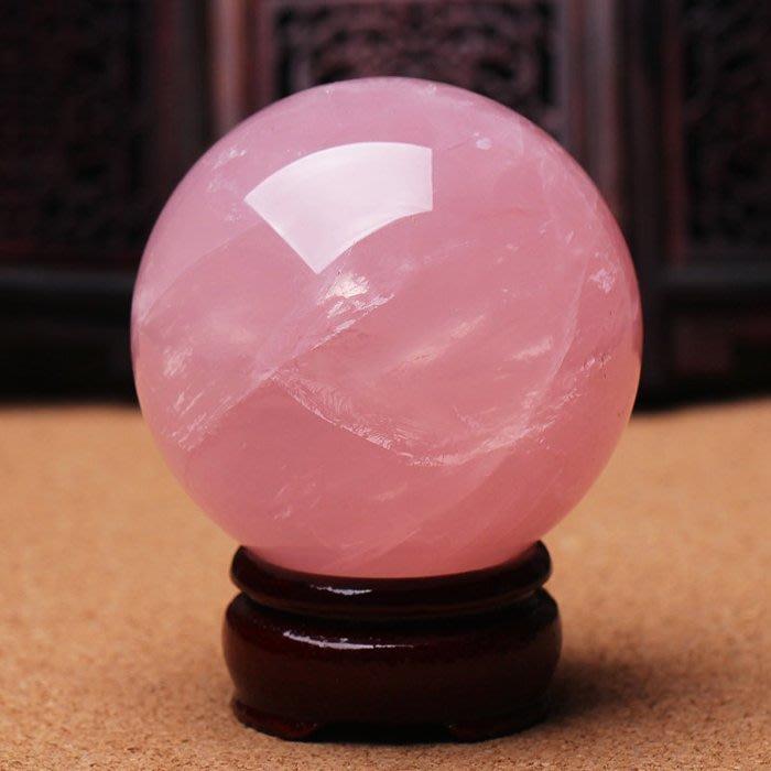 天然粉水晶球擺件粉晶球擺件助愛情水晶粉色促姻緣(5公分價格)