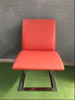 紅色單人餐椅 餐椅 休閒椅 A2053-予新傢俱