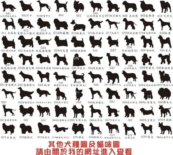 【銘記心禮】犬種圖及字型挑選(勿於此下標)