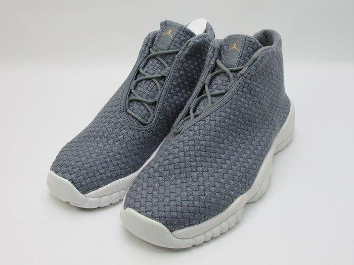左腳展示發黃特價 NIKE AIR JORDAN FUTURE BG 大童鞋 女鞋 灰白 656504-003 4Y