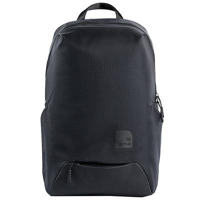 運動包小米(MI)休閑運動雙肩包 男女筆記本電腦包 時尚背包簡約學生書包 黑色