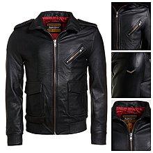 極度乾燥 Superdry Leather Aviator A2 義大利皮革 真皮 皮衣 縮口 飛行 外套 合身版型