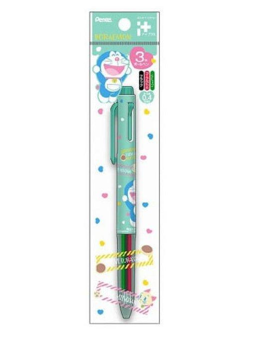 天使熊雜貨小鋪~日本pentel 飛龍牌 哆啦a夢 限定版 3色筆 0.4mm原子筆 現貨2款 全新現貨
