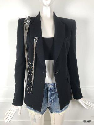 [我是寶琪]  PIERRE BALMAIN 黑色胸鍊西裝外套