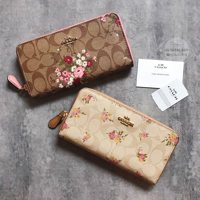 NaNa代購 COACH 29931 31778 新款女士花朵長夾 拉鏈長夾 內置12個卡位 可搭配同系列包包 附購證