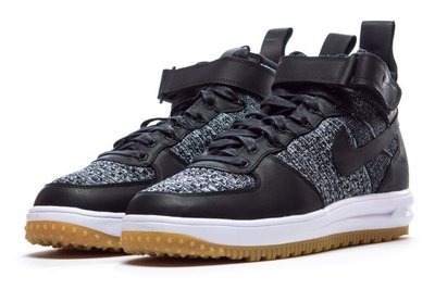 =CodE= NIKE LUNAR FORCE 1 FLYKNIT WORKBOOT 皮革(黑白) 855984-001