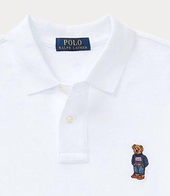 POLO Ralph Lauren 短袖 限量POLO衫 熊熊系列 青年款 白色 美國潮踢屋