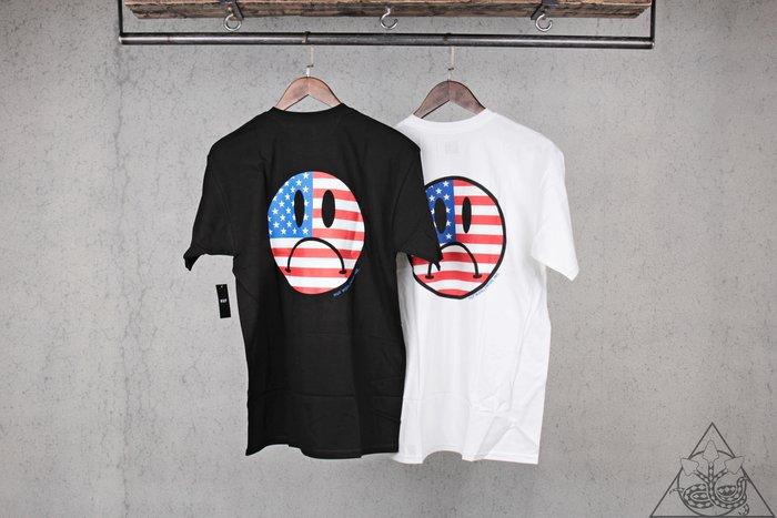 【HYDRA】HUF Bummer Usa T-Shirt 笑臉 國旗 短T【TS00800】