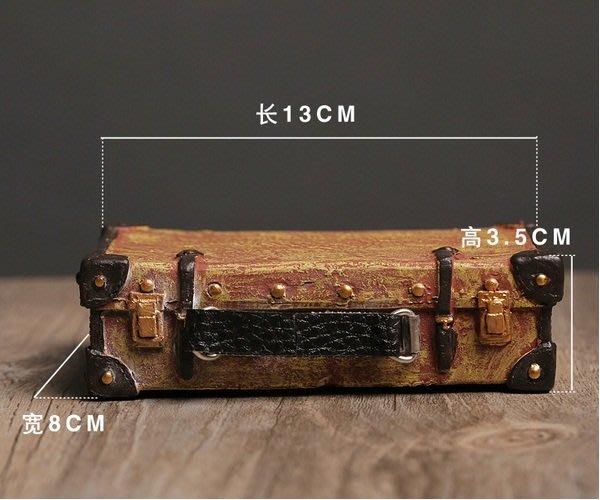 復古懷舊擺件手提箱~loft 民宿 餐飲 居家 攝影(兩款可選)