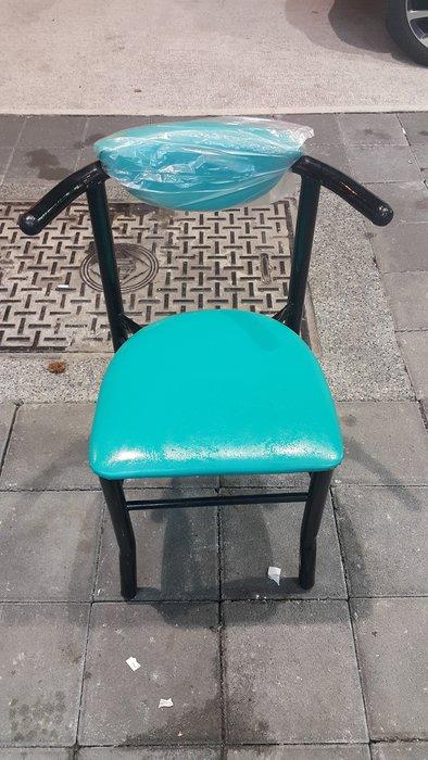 樂居二手家具 A0120DJE 綠色牛角餐椅 洽談椅 書桌椅 電腦椅 會客椅 2手各式桌椅拍賣【全新中古家具家電賣場】