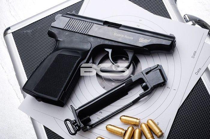 [極光小舖] 俄製MAKAROV MP654K 4.38mm 鋼製 CO2直壓槍