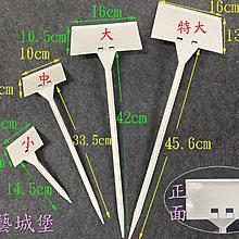 【園藝城堡】植物標示插牌 (小20cm) 說明名牌 標示牌 植物名牌