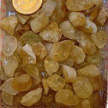 林老師開運坊~天然黃水晶碎石100g(附一張旺財符)/黃水晶.鈦晶~已淨化