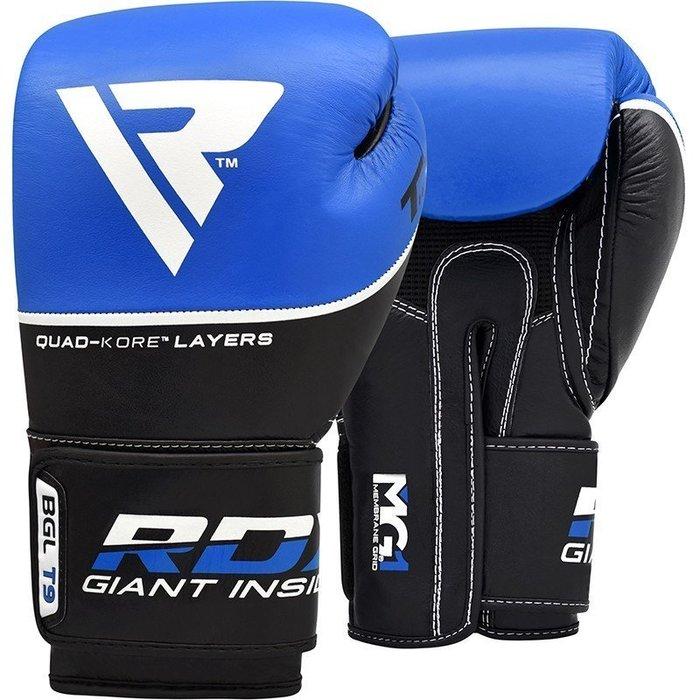 【神拳阿凱】RDX 英國 BGL-T9U 拳擊手套 牛皮 藍(免運)