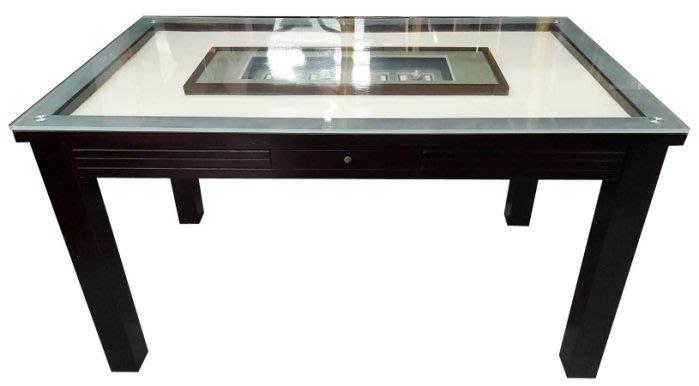 樂居二手家具(北) 便宜2手傢俱拍賣E92102*胡桃色玻璃 餐桌*櫥櫃 隔間屏風櫃 高低櫃 置物架 餐桌椅