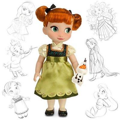 """迪士尼冰雪奇緣Anna 16""""收藏版娃娃"""
