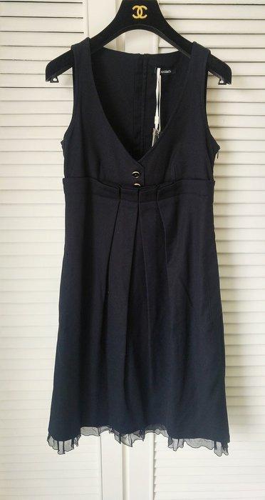 全新吊牌 附備釦MAX & CO 黑色高腰娃娃裝