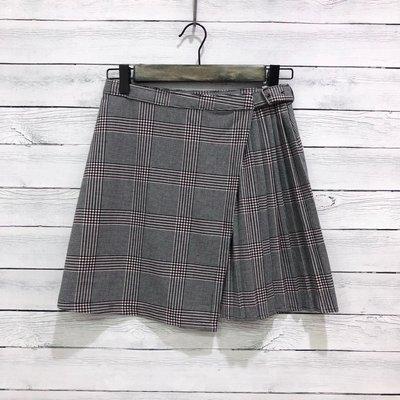 Maple麋鹿小舖 Abercrombie&Fitch * AF  細格紋打摺短裙 * ( 現貨XS號 )
