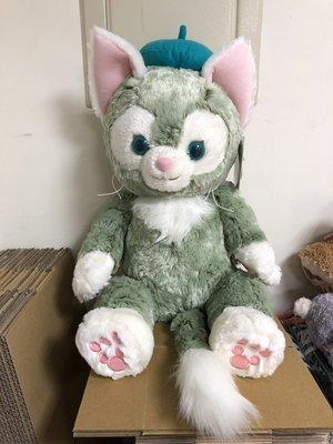 日本 海洋迪士尼 畫家貓M號玩偶 /娃娃