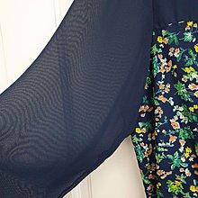 Stand up 30~二手衣~日系雪紡碎花氣質洋裝~雪紡洋裝 (腰鬆緊)