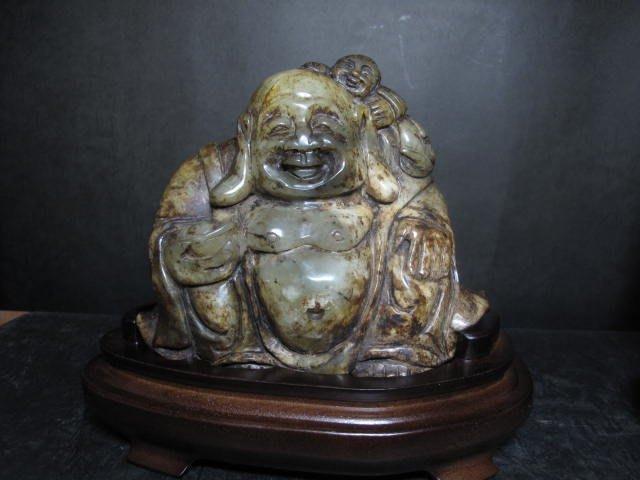 和闐老玉雕◎  招財彌勒佛