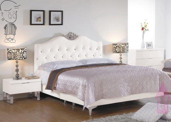 【X+Y時尚精品傢俱】現代雙人床組系列-格蘭德 5尺雙人床頭片(白色皮).不含床架及床頭櫃.另有6尺.摩登家具