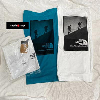 【Simple Shop】The North Face Modern Ledge 短袖 北臉 登山 短T 白色 藍綠色
