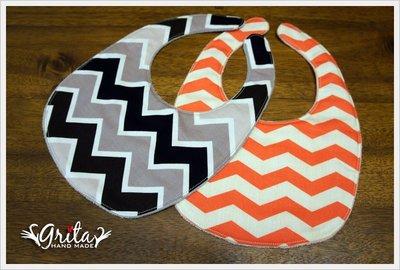 ♥gritas handmade♥純棉手作嬰幼兒圍兜兜/領巾/口水巾/三角巾/彌月禮—大條紋