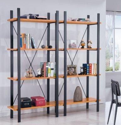 美式鄉村風格復古鐵藝書架鐵木置物架隔板展示貨架書架