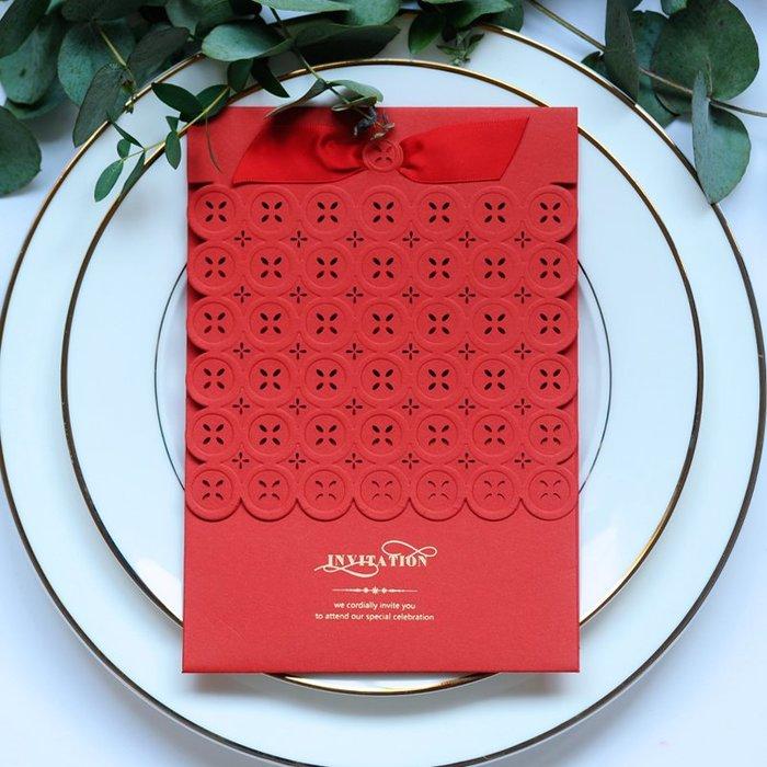 衣萊時尚-熱賣款  結婚請柬創意新款紅色請帖喜帖婚禮邀請函 XD28