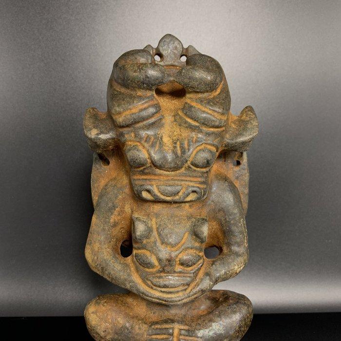 § 璽玥亭 § 紅山文化《鐵隕石 太陽神 佛像 擺件 可吸磁》出土‧良渚