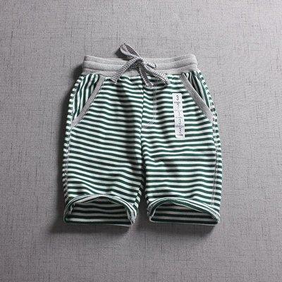 【Mr. Soar】 C374 夏季新款 歐美style童裝男童條紋短褲五分褲 現貨