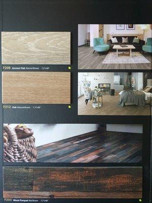 美的磚家~特殊四邊削角超耐磨FLOORWORKS絕色木紋塑膠地磚塑膠地板特殊尺寸18cmx122cmx3mm每坪1400