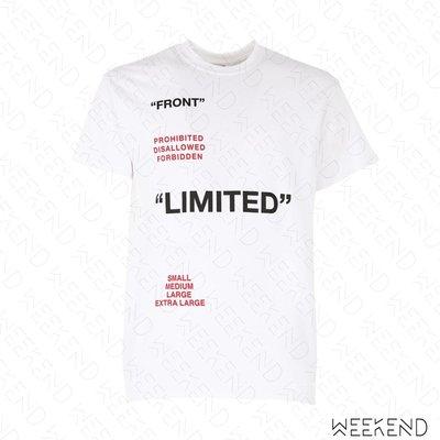 【WEEKEND】 TABOO Limited 文字 短袖 T恤 上衣 白色 男女同款 19春夏