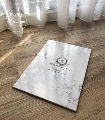 ❤法亞設計❤結婚書約 證書夾 喜帖 簽名綢 貼紙 封口貼紙❤經典大理石書夾 (含書約)