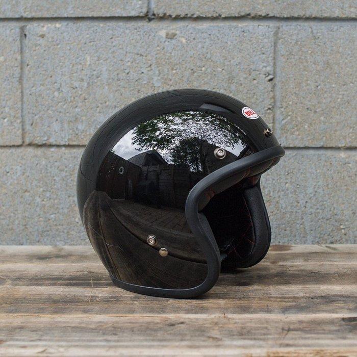 (I LOVE樂多)美國經典品牌BELL SOLID BLACK 4/3安全帽 全車種風格搭配