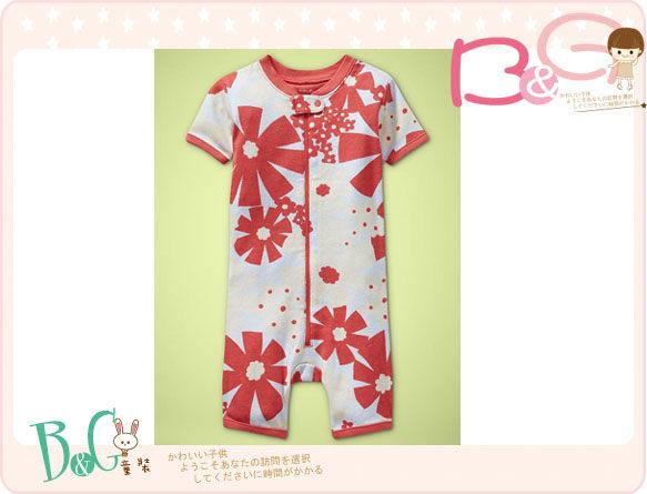 【B& G童裝】正品美國進口GAP Floral romper 花圖樣短袖連身裝18-24mos