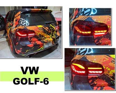 小亞車燈改裝*新品 VW 福斯 GOLF6 GOLF6代 09-12 類M4 OLED 樣式 尾燈 後燈 後車燈