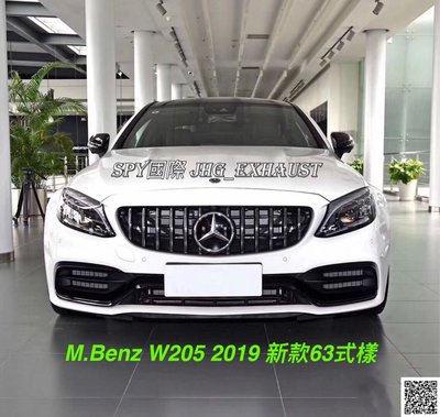 SPY國際 賓士 M.Benz AMG 2019 W205 新款63前保桿