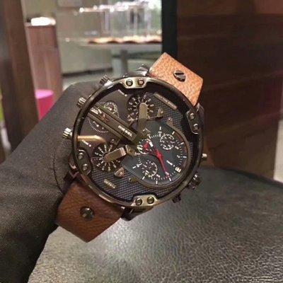 DIESEL DZ7333 Mr Daddy 2.0 黑金 大錶盤 手錶