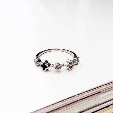 ☜男神閣☞Taimi Style 日韓鑲?戒指女潮人時尚正韓關?戒版簡約花朵細指環