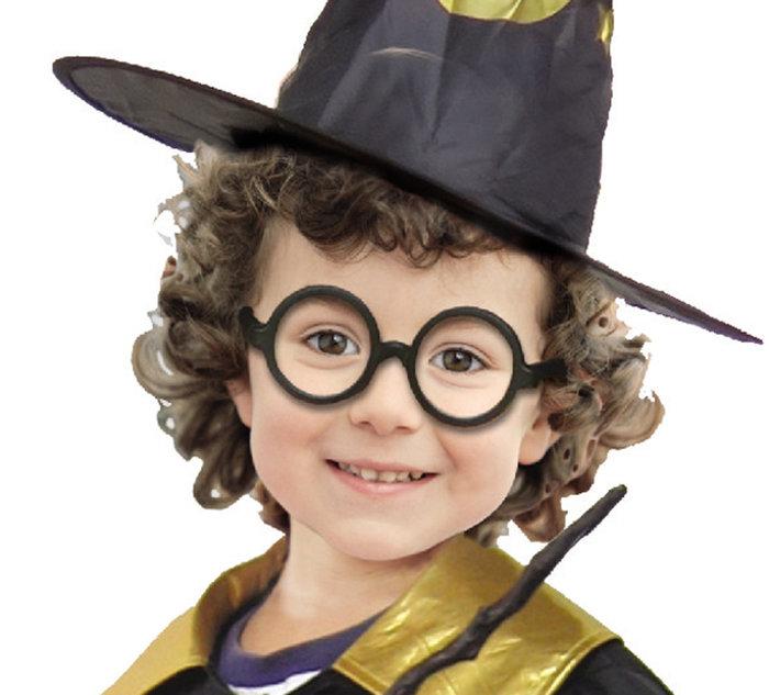 【洋洋小品小魔法師眼鏡 哈利波特黑框眼鏡】無鏡片黑框眼鏡兒童萬聖節 聖誕節化妝舞會COSPLAY角色扮演服裝道具