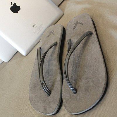 南國女人街WM右先生夏季新款簡約平底橡膠防滑拖鞋男女正韓情侶沙灘人字涼拖